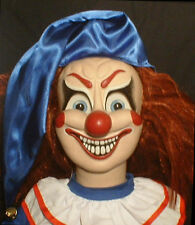 "HAUNTED Evil Clown doll ""EYES FOLLOW YOU"" Creepy Halloween Poltergeist prop OOAK"