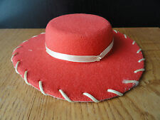 Toy Story Jessie Cowgirl Hat ONLY Replacement Red Felt 6""