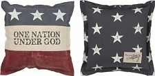 Pillow American Flag One Nation Under God Red White Blue One Pillow 2 Sides