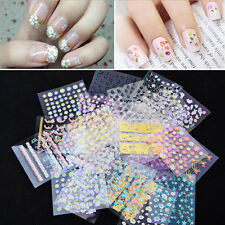 Nail Art 10 Sheets Transfer Stickers 3D Design Manicure Tips Decal Decorations