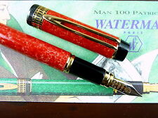 Waterman Le Man 100 Patrician Cardina Red 18k Med, near mint, in original boxes