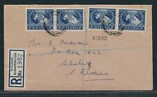 1948 South Africa KGVI Registered FDC – Silver Wedding