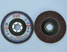 "100pcs FLAP DISC 4-1/2""x7/8"" A/O 60 GRIT for Metal Woods etc / Type 27"