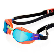 NEW Speedo Fastskin 3 Elite Mirror Goggles – Orange/Green Swimming