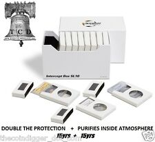 Lighthouse INTERCEPT DOUBLE PROTECTION BOX Storage for Certified Coin Slabs 10pk