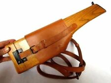 Men's WW2 German Mauser Broomhandle Leather Holster And Wood Stock -158