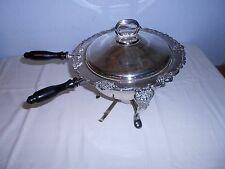 Vintage Ornate 4 pc. Silverplate Chafing Dish Serving Warmer