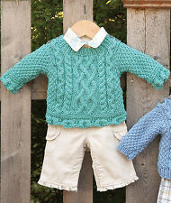 Baby's First Aran 6 -24 mths Scalloped edge for Girls Version  Knitting Pattern
