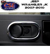 Chrome Door Handle Trim Jeep Wrangler JK 2007-2010 11156.20 Rugged Ridge
