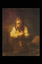 402091 Chica con una escoba Rembrandt Harmensz Van Rijn A4 Foto Impresión