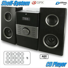 NEW GPX AM/FM Radio CD Player Portable Stereo Shelf System w/Aux-input/Remote
