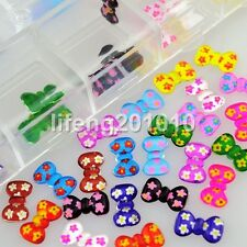60PCS resin nail bow tie for 3d nail art decoration acrylic nail supplies tools