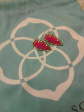 Kendra Scott Skylette Magenta Hot Pink Arrow Stud Earrings Rare HTF