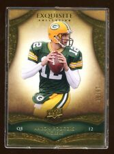 2009 EXQUISITE AARON RODGERS BASE CARD #D /80  GOLD  PACKERS SUPER BOWL QB  RARE