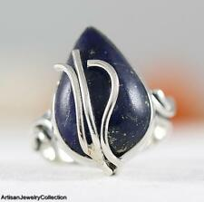 LAPIS LAZULI & .925 Sterling Silver RING Size 6  Y867A