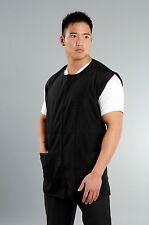 Men's Sleeveless Black XXL - Salon Wear Barber Jacket, Spa Uniform, Jacket, Vest