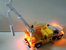 New Wisconsin Power & Light 1/24 Plastic Digger Truck Bank With Working Lights
