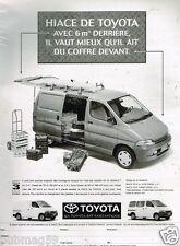 Publicité Advertising 1996 Camionette Utilitaire Hiace de Toyota