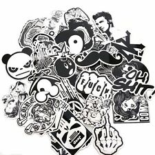 100x  Black White Skateboard Stickers Laptop Phone MotorBike Car Decal Graffiti