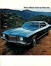 1970 Monte Carlo Sales Catalog from the dealer's shelves