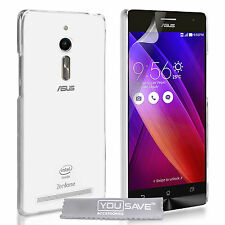Yousave Accessories Asus Zenfone 2 Ultra Thin Clear Silicone Soft Gel Case Cover