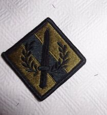 U.S.ARMY PATCH, NEW, 201ST SUPPORT GROUP, SCORPION, HOOK TAPE FASTENER