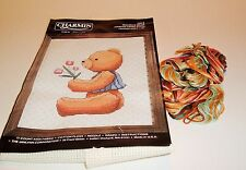 Charmin Counted Cross Stitch Kit Maurice Bear Boy With Tulips Alma Lynne #40-9