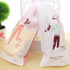 2 Pcs Waterproof Laundry Shoes Travel Pouch Portable Tote Drawstring Storage Bag