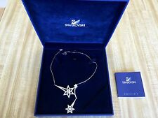 AUTHENTIC SWAN SIGNED SWAROVSKI CRYSTAL & White Gold NECKLACE $250