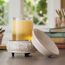 Candle Warmers Etc. - Sandstone 2-in-1 Classic Fragrance Candle Tart Warmer