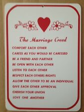 The Marriage Creed  Gift PVC  Street Sign bar man cave 8.5 x12