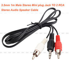 High Quality 3.5mm 1m Male Stereo Mini plug TO 2 RCA Stereo Audio Speaker Cable