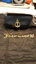 NWT Juicy Couture NAVY BLUE ANCHOR NAUTICAL LEATHER BAG & DUST BAG Org $500