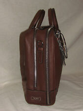 New Tumi 73115 Villa Laptop Case Bag Mens Womens Brown Leather, Canvas Briefcase