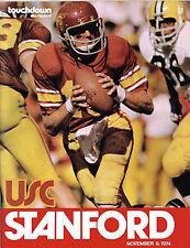1974  USC  vs STANFORD Football Program NCAA