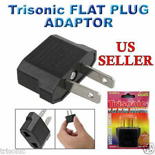 Lot of 5 EU Euro Europe to US USA Power Jack Wall Plug Converter Travel Adapter