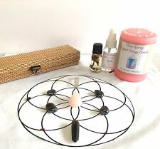 Crystal Grid Cloth, Rose Quartz, Tumbled Stones, Love Energy Candle, Mist, &Oil