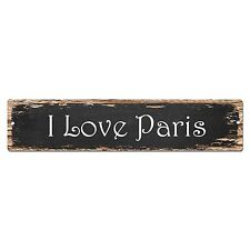 SP0005 I Love Paris Street Sign Bar Store Shop Pub Cafe Home Chic Decor