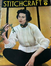 LOVELY VTG 1950s STITCHCRAFT KNITTING CROCHET EMBROIRERY BOOKLET