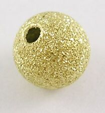 Top Quality BRASS 40 x 8mm Stardust Gold Plated Glitter Beads - PB102G