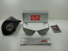RAY-BAN POLARIZED SUNGLASSES RB3183 004/9A GUNMETAL FRAME/GREEN G-15 LENS 63MM