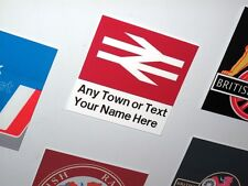 Customised British Rail Station Sign Fridge Magnet / Metal Railway Sign | Gift