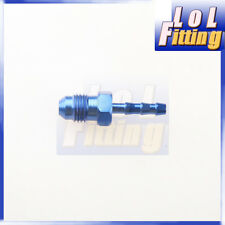 -4 AN 4 AN AN 4 to 4mm Barb Straight Fitting Fuel Line Aluminum Alloys Blue