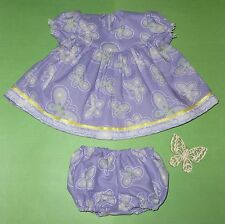 """Handmade Doll Clothes for 23"""" - 24"""" Baby Dolls - """"Lavender Cutie!!"""" Dress Set"""