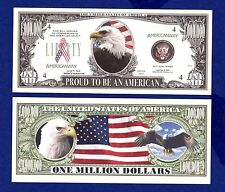 1-AMERICAN  EAGLE 911 DOLLAR  BILL -Novelty  - Collectible- FAKE- MONEY- ITEM-E