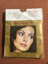 Vintage/Retro Golden Lady Sheer Relief 70 Support Stockings, Debonair Tan, BNWT