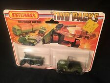 "Matchbox TP-11 VERY RARE - Two Pack   ""DARK OLIVE DRAB"" Jeep & Motor Cycle"