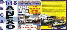 ANEXO DECAL 1/18 FORD ESCORT RS 1800 MK II ROTHMANS VATANEN 1000 LAKES 1979 (04)