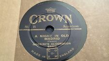 ROSSINI'S ACCORDEON BAND A NIGHT IN OLD MADRID & THE DUCK SONG CROWN 86