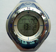 Mercedes Benz Electronic Digital Compass Thermometer Stopwatch Chronograph Watch